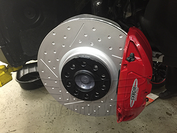 F56 JCW Big Brake kit installed