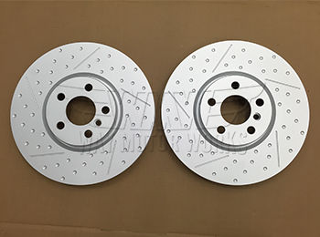 F54 F55 F56 JCW front dimpled and slotted rotors
