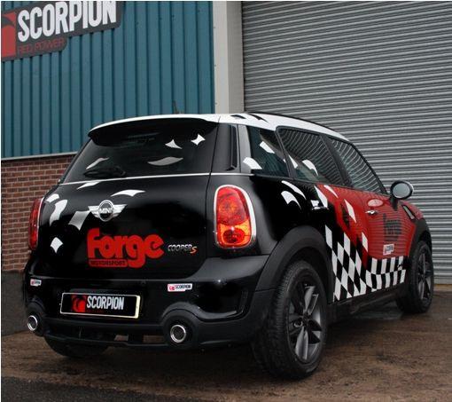 R60 scorpion exhaust installed