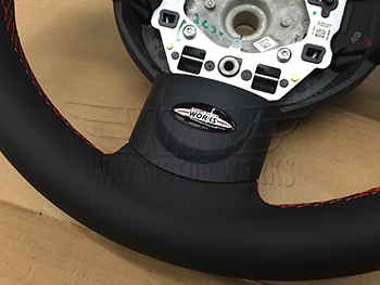 MINI Cooper S GP 2 Steering wheel lower logo and stitching