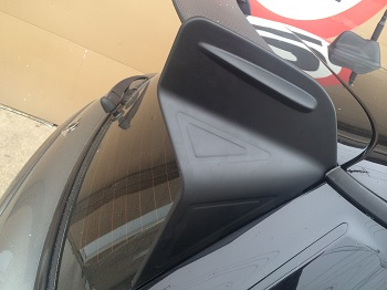 GP Style Wing Up close picture on R56 MINI