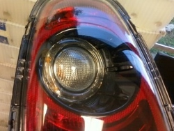 MINI Blackout Tail Light Up close