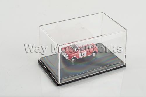 Red Classic Mini in Display Case