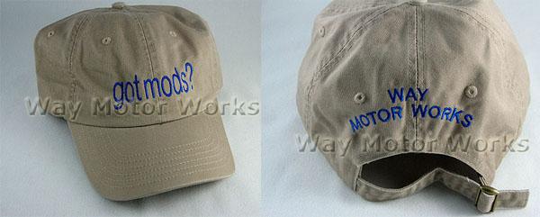 Tan Blue Hat