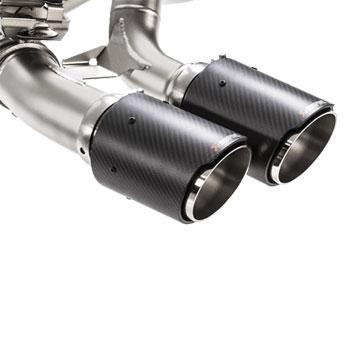 BMW M2 Akrapovic Exhaust Carbon Fiber Tips