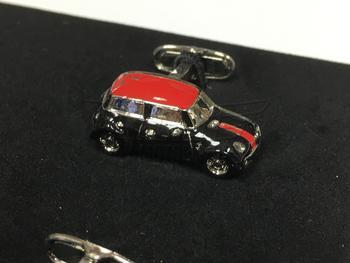 Black and Red MINI Cooper Cufflink