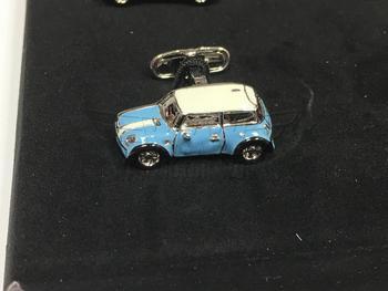 Blue MINI Cooper Cufflink