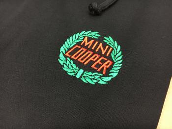 Classic MINI Logo on Black Hoodie