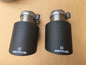Remus Carbon Fiber Exhaust tips for F54 Clubman exhaust