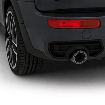 F54 MINI Clubman S Exhaust Tip installed