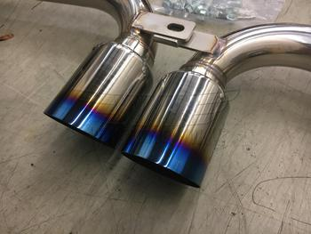Titanium tips on R53 MINI Cooper S Invidid Exhaust