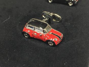 Red MINI Cooper Cufflink