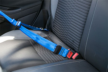 MINI Schroth Quickfit Harness Pro backseat buckle position R55 R56 R57