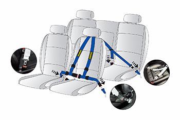 MINI Schroth Quickfit Harness Pro car position R55 R56 R57