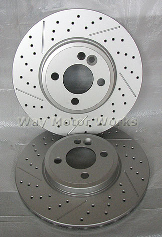 WMW Drilled/Slotted John Cooper Works Brake Rotors R53 R52
