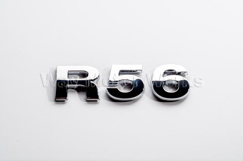 R56 Chrome Letter Badge