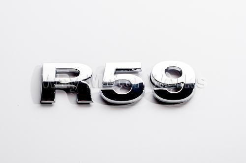 R59 Chrome Letter Badge