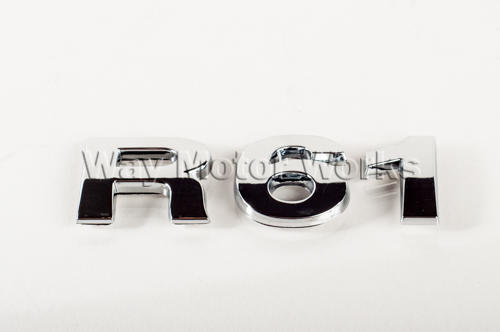 R61 Chrome Letter Badge