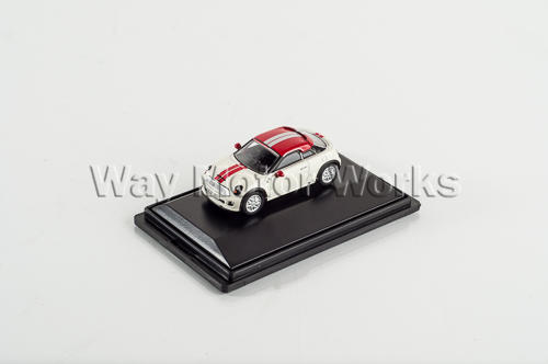 Pepper White and Red R58 Coupe Diecast Model
