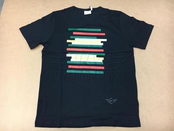 Black Mini Stripes Short Sleeve T-shirt