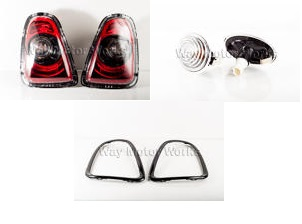 Blackout Tail Side Light and Trim Set  R56 R57 R58 R59