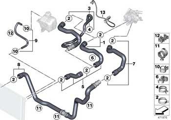 OEM Cooper S Coolant Hoses R55 R56 R57 R58 R59