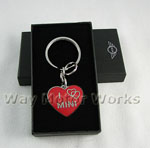 I Heart MINI Locket Keychain