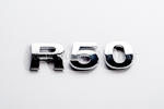 R50 Chrome Letter Badge