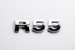 R55 Chrome Letter Badge