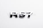 R57 Chrome Letter Badge