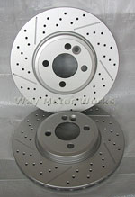 WMW Drilled Slotted Brake Rotors R55 R56 R57 R58 R59 Cooper S