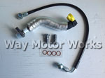 WMW Stainless Turbo Oil Line Kit