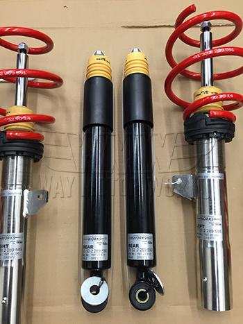 F56 JCW Pro suspension coilover rear shocks