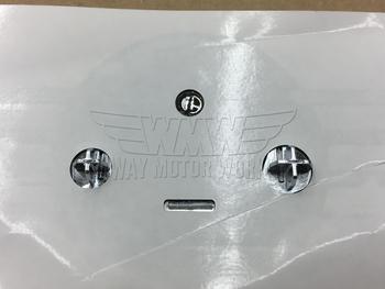 Back of F56 MINI Hood Emblem Badge