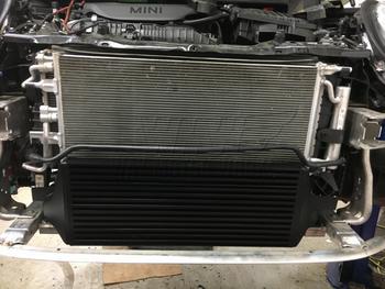 F56 MINI JCW Intercooler installed