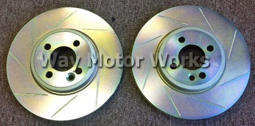 For Mini R50 R53 Cooper Set of 2 Front /& 2 Rear Disc Brake Rotors Sensors Brembo
