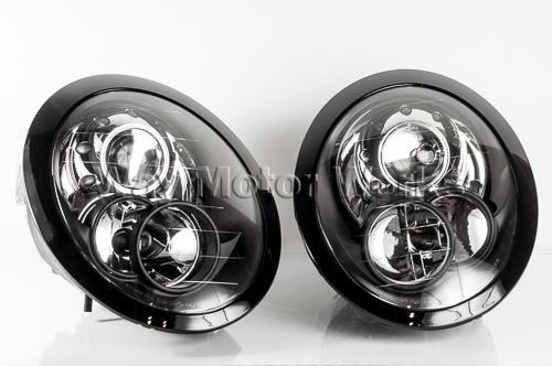 Black Headlight Set R50 R52 R53 Way Motor Works