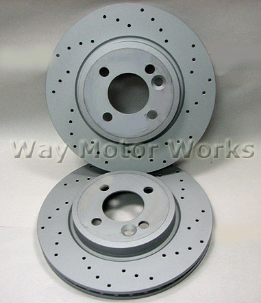 Brembo Xtra Front Rear Drilled Brake Disc Rotors Kit for Mini Cooper R56 R57 R58