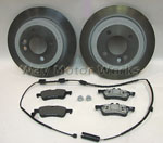 MINI OEM Rear Brake Pads and Rotors pack R50 R52 R53