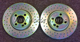 Brembo Drilled John Cooper Works Brake Rotors R53 R52