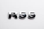 R55 Chrome Letter Badge