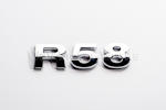R58 Chrome Letter Badge