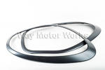 Anthracite Headlight Trim Rings Countryman R60