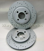 Zimmerman Cross Drilled Brake Rotors R55 R56 R57 R58 R59